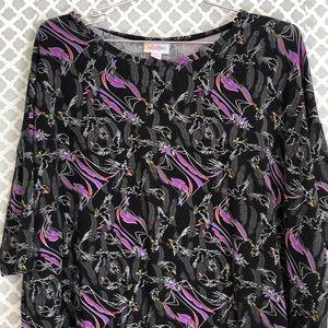 LulaRoe Disney black Melificent Irma T-shirt Top